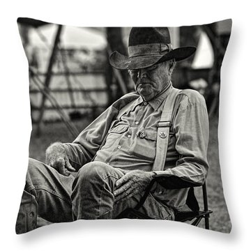 Cowboy And The Ten Gallon Hat Throw Pillow