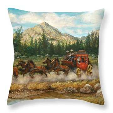 Ten Miles To Tucson Throw Pillow