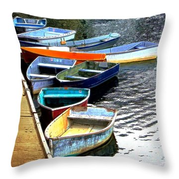 Ten Rockport Dinghies Throw Pillow