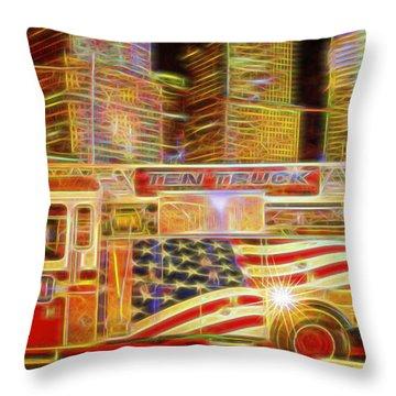 Ten Truck Throw Pillow