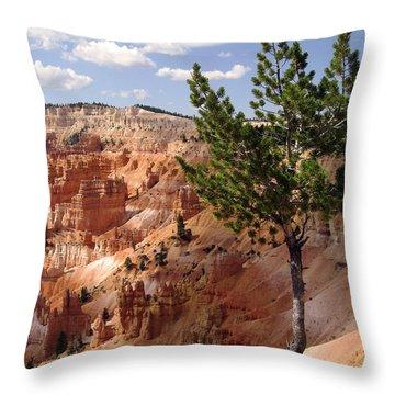 Throw Pillow featuring the photograph Tenacious by Meghan at FireBonnet Art