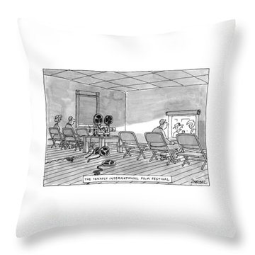 Tenafly International Film Festival Throw Pillow