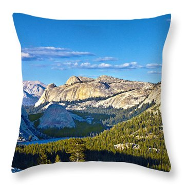 Tenaya Lake From Olmsted Point In Evening Throw Pillow