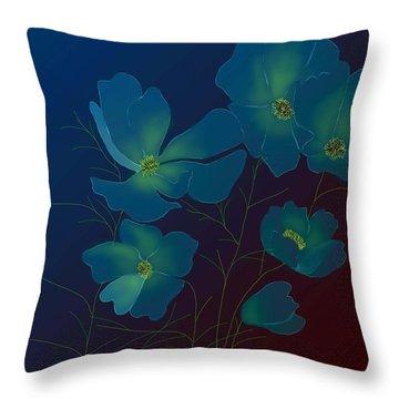 Throw Pillow featuring the digital art Tender Cosmos by Latha Gokuldas Panicker