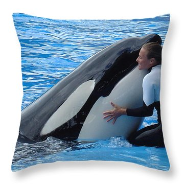 Throw Pillow featuring the photograph Tender by David Nicholls