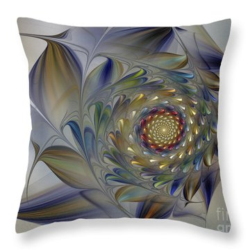 Tender Flowers Dream-fractal Art Throw Pillow