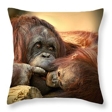 Tender Moment Throw Pillow