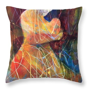 Tender Moment Throw Pillow by Marilyn Jacobson