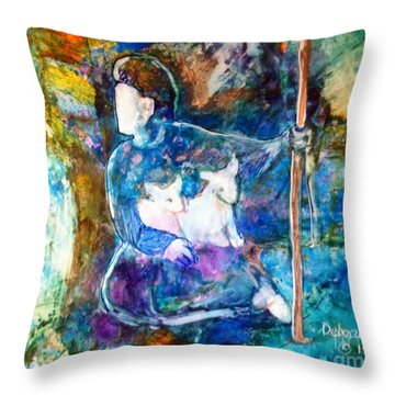 Tending The Sheep Throw Pillow