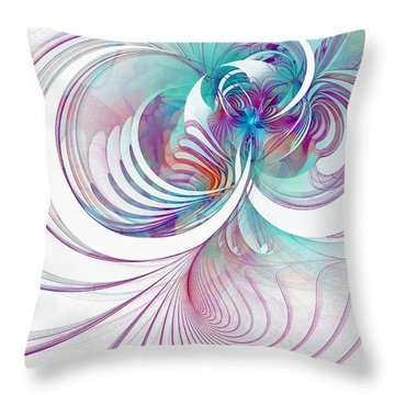 Tendrils 02 Throw Pillow by Amanda Moore