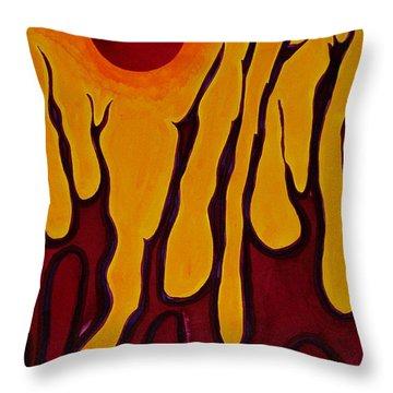 Tendrils Original Painting Throw Pillow