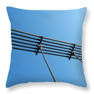 Throw Pillow featuring the photograph Tendu Sur Le Ciel by Marc Philippe Joly