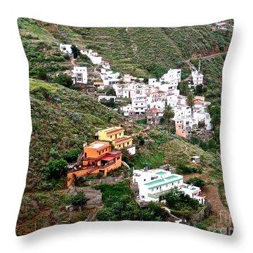 Tenerif Islands Mountainside Community Throw Pillow