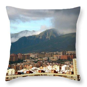 Tenerif Mountains Throw Pillow