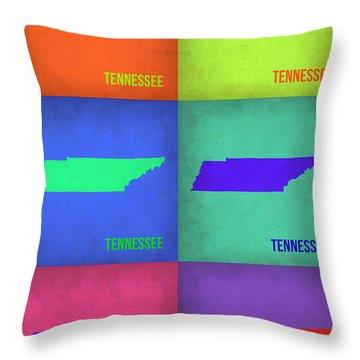 Tennessee Pop Art Map 1 Throw Pillow