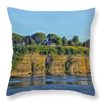 Tennessee River Cliffs Throw Pillow by Mountain Dreams