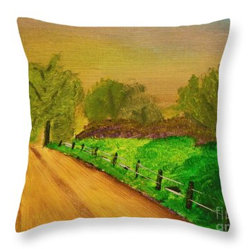 Tennessee Road Throw Pillow by Harold Greer
