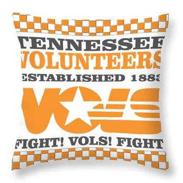 Tennessee Volunteers Fight Throw Pillow by Debbie Karnes