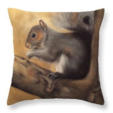 Tennessee Wildlife - Gray Squirrels Throw Pillow