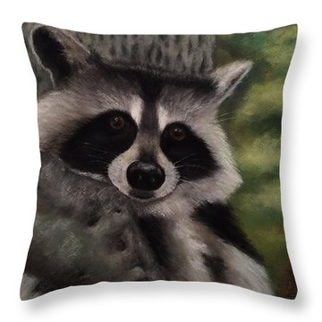 Tennessee Wildlife - Raccoon Throw Pillow