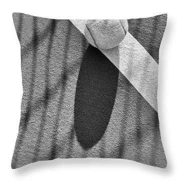 Tennis Ball And Shadows Throw Pillow