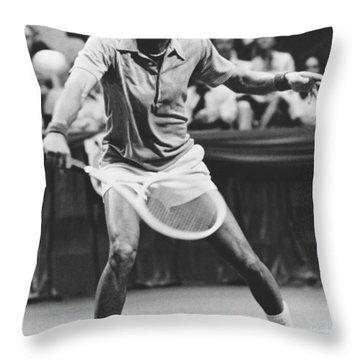 Tennis Champion Arthur Ashe Throw Pillow