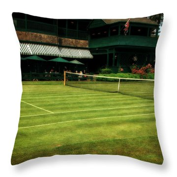 Tennis Hall Of Fame 2.0 Throw Pillow by Michelle Calkins