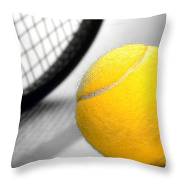 Tennis Throw Pillow by Olivier Le Queinec