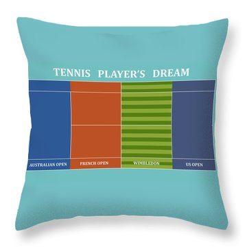 Tennis Player-s Dream Throw Pillow by Carlos Vieira
