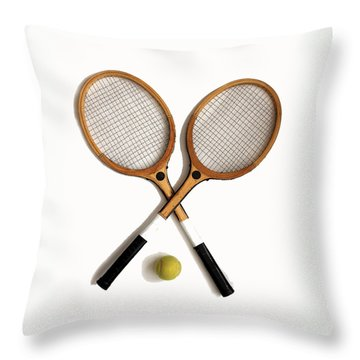 Tennis Sports Throw Pillow