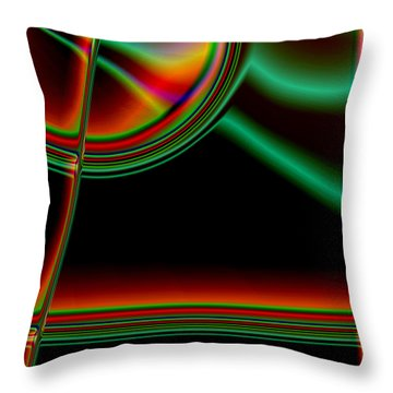 Tension Throw Pillow by Martina  Rathgens