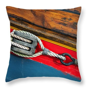 Tension On The Sailing Vessel Throw Pillow