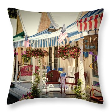 Tent City Throw Pillow