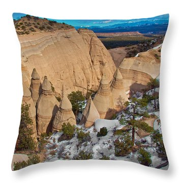 Throw Pillow featuring the photograph Tent Rocks National Monument by Britt Runyon