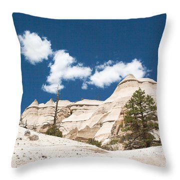 High Noon At Tent Rocks Throw Pillow