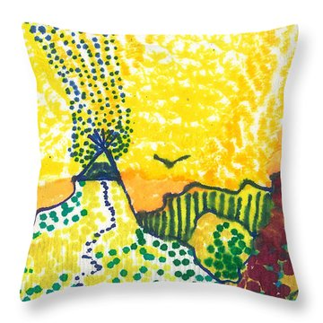 Tepee Mountain Throw Pillow