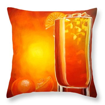 Tequila Sunrise Throw Pillow by Darren Robinson