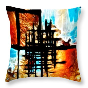 Tequila Sunrise Throw Pillow by Mariola Bitner