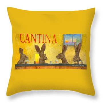 Tequila Sunrise... Throw Pillow by Will Bullas