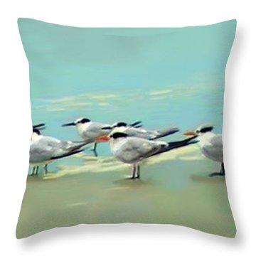 Tern Tern Tern Throw Pillow