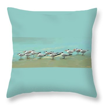 Tern Tern Tern Throw Pillow