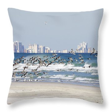 Terns On The Move Throw Pillow