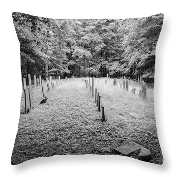 Terpenning Cemetery B And W Throw Pillow