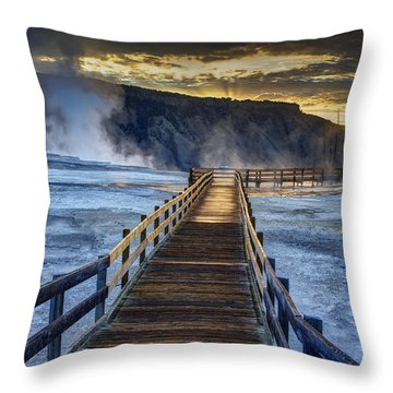 Terrace Boardwalk Throw Pillow by Mark Kiver