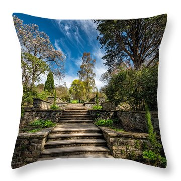 Terrace Garden Throw Pillow by Adrian Evans