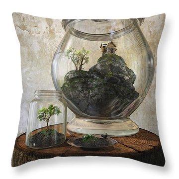 Terrarium Throw Pillow by Cynthia Decker