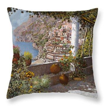 terrazza a Positano Throw Pillow
