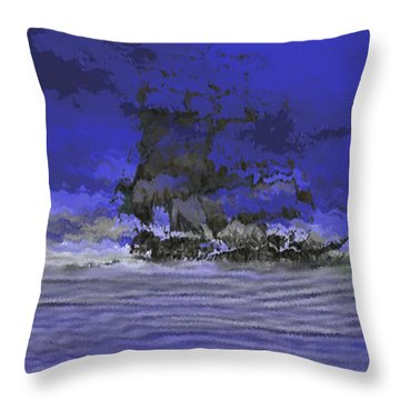Terrible Sign- Flying Dutchman Throw Pillow
