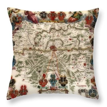Territories Vintage Map Throw Pillow by Inspired Nature Photography Fine Art Photography