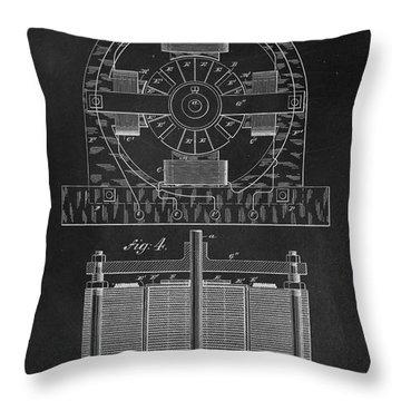 Tesla Coil Patent Art Throw Pillow